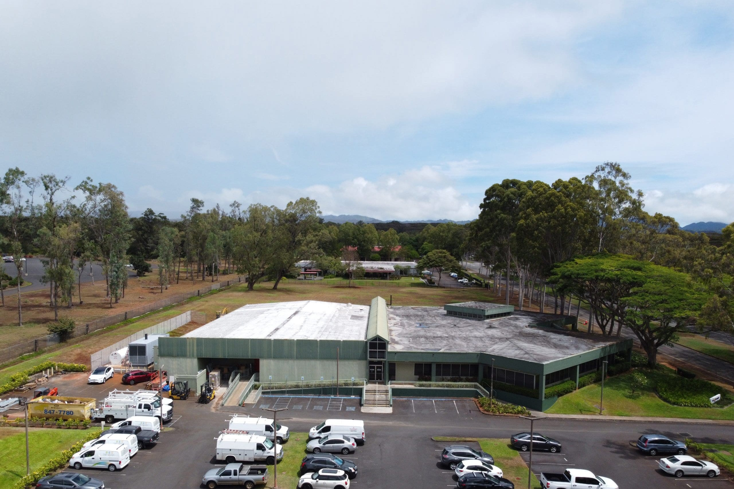 Aerial view of MTP Data Center