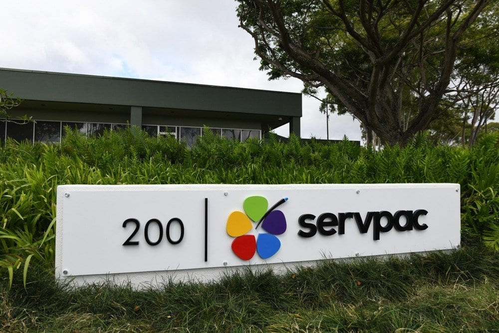 MTP Data Center by Servpac outdoor sign