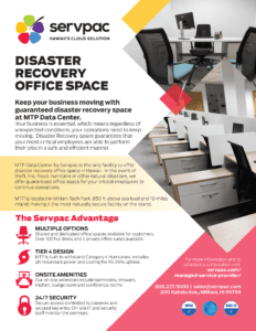 Disaster recovery brochure